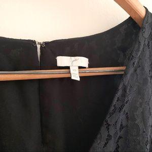 Joie Dresses - Joie phelia lace skater mini dress in caviar
